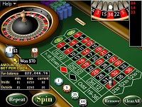 Roulette bets layout